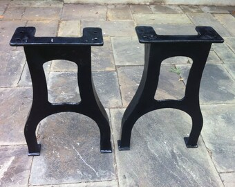 Perfect 28 Tall Industrial Cast Iron Table Legs Vintage