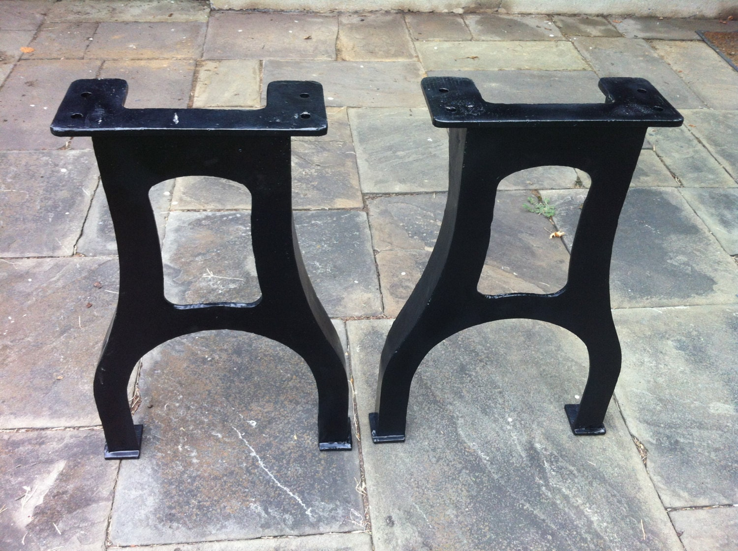 30 5 tall industrial cast iron table legs vintage for Iron cast table legs