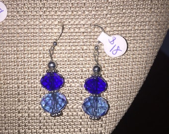 Sparkly Blue Earings