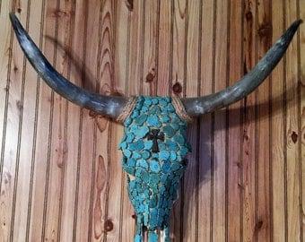 Turqouise Stone Cowskull