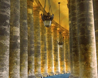 Colonnade at St. Peters Bastica - Vatican City, Italy