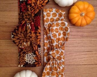 Fall Autumn Thanksgiving Head Wraps