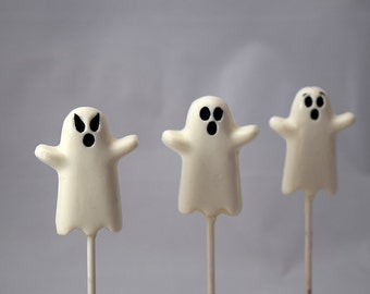 Ghost Chocolate Pops 1 Dozen (12)