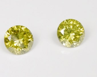 0.60ct Natural Diamond with treated yellow colour