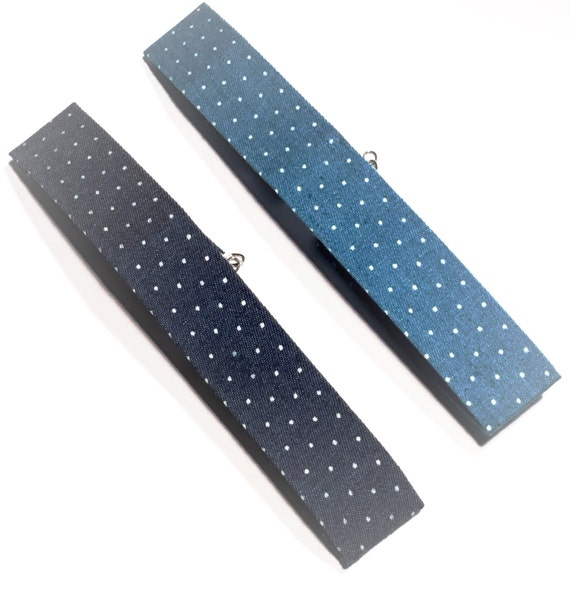 Polka dot | Denim | Choker | Chokers | Necklace | Unique | Casual | Blues | White | Gifts | Gift | Jewelry | PENNY