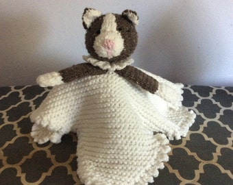 Hand Knit Kitty Security Blanket