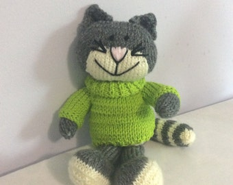 Hand Knit Kitty