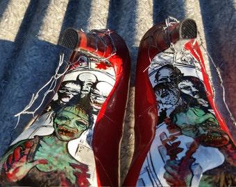 Walkers, Hand Painted High Heel Shoes
