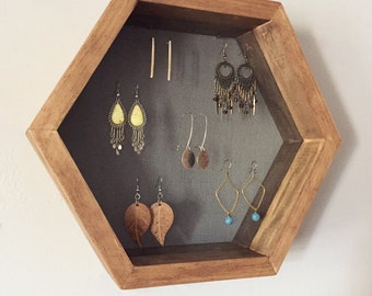 Hexagon Jewelry Earring Display
