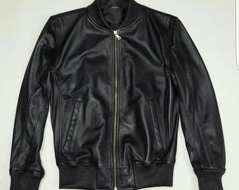 Men's Soft Lamb Leather Bomber Jacket