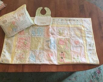 Flannel Appliquéd Alphabet Baby Quilt