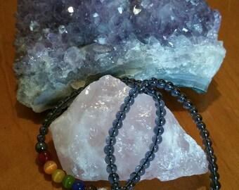 Chakra bracelet with Hematite