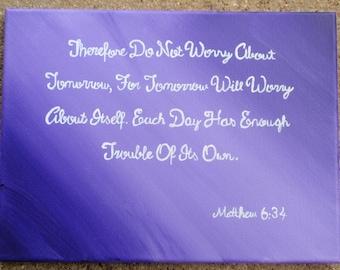 Matthew 6:34 painting