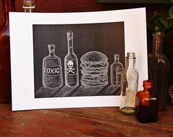 Poison Print A4 Black&White