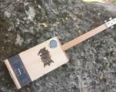 Acoustic-electric cigar box slide guitar - Undercrown box - Great Sound!