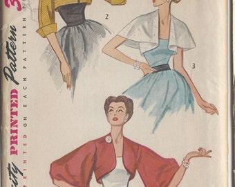 1951 Vintage Sewing Pattern B34 JACKET (R857) Simplicity 3746