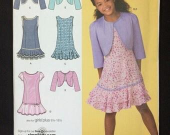 Simplicity 2470 Girls princess seam dress pattern size 8 1/2 to 16 1/2