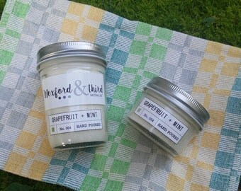 Grapefruit + Mint Wood-Wick Natural Soy Candle