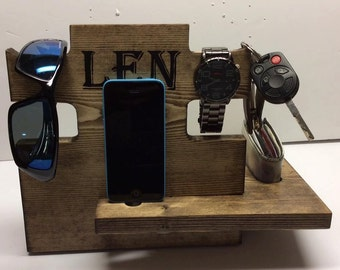 Valet Cell Phone Charging Station Keys Wallet Change Glasses Watch