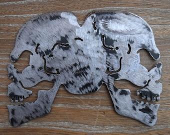 Metal Art  Twin Skulls