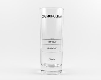 Cosmopolitan Recipe Glass