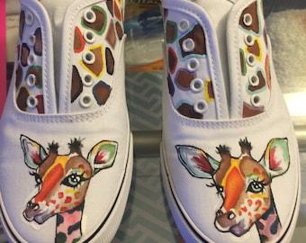 Giraffe customized shoes