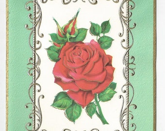 """1970s Lovely Vintage Mothers Day Card """"To My Dear Wife"""""""