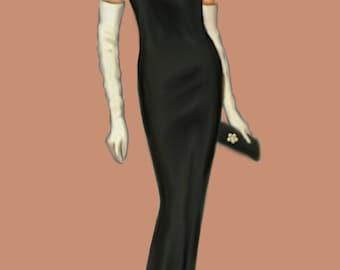 Tube dress pattern, medium 44 size, A4 pdf file