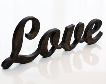 Free standing wooden rustic Love sign. Wedding decor. Wall decor. Gift. Wall hanging. Wooden letters. Wooden word.