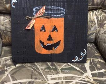 Fall pumpkin decor