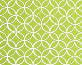 Green Fabric - Michael Miller Tile Pile Fabric - Green Geometric Fabric