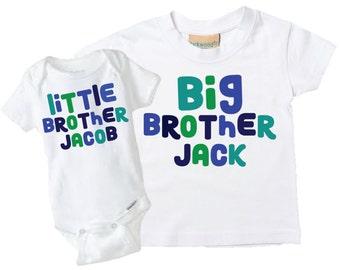 Big Brother Little Brother Shirt & Onesies, Big Brother Little Brother onesie  Big Brother Little Brother Shirt, Sibling t-shirt