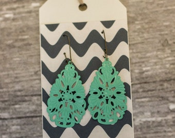 Hand Painted Earrings (Small Dew Drop)
