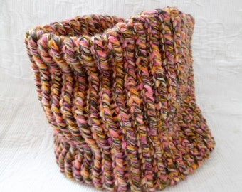 Snood-choker child pink/brown