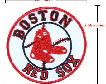 Boston Red Sox iron-on patch .