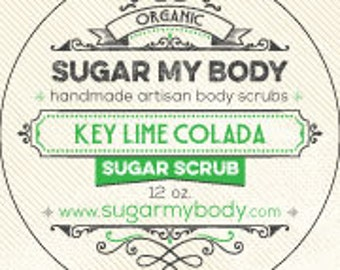 Key Lime Colada Sugar Body Scrub | Coconut Oil for Smooth Skin