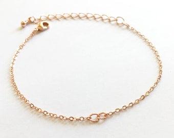 10 pcs Rose gold Bracelet Chain Bracelet components Jewelry Parts Bracelet extender BR-R