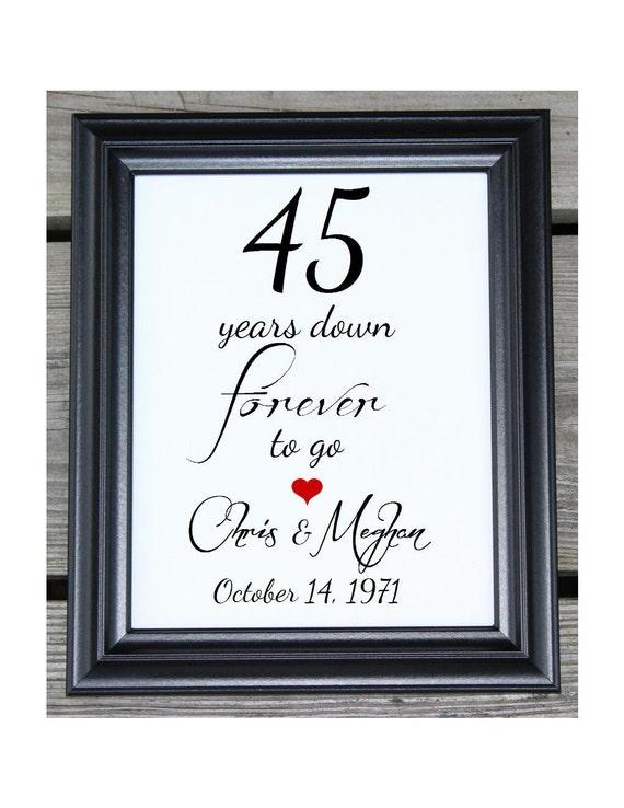 45 Years of Marriage 45 Years Down 45 Year Anniversary