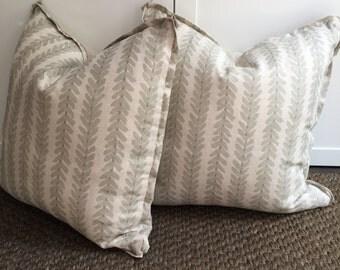 Custom F. Schumacher Pillow with Down Insert