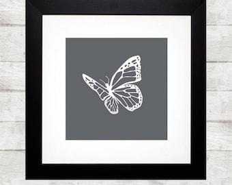 Printable art butterflies - butterflie print - butterflies -  digital prints - nursery printable - instant download - wall prints
