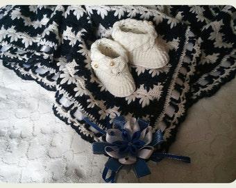 Children's knitted blanket (warm)