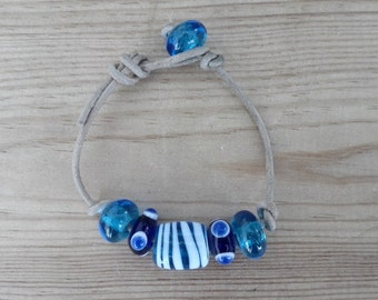 Bronze age of glass beads bracelet / bronze age glass beads