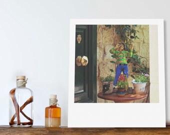 "Custom Polaroid Style Cotton Canvas Print with Copyright Photograph of Malta - ""Hello, Sailor"", 3 sizes available, Original Gift Idea"