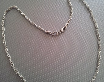Handmade NECKLACE chain woman in silver