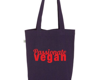 Passionate Vegan  // Tote Bag Design