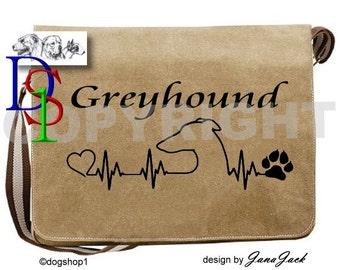 GREYHOUND Dog Pet Sight Hound Bag Handbag Canvas Despatch