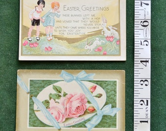 Two Antique Easter Post cards circa 1910