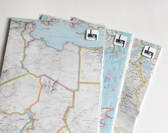 Map Paper Pack Wedding DIY Decorations Travel Themed Wedding 15 Large Sheets All Matching Scrapbook Paper