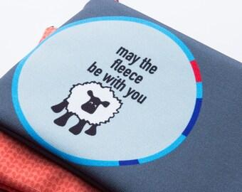 Zipper Bag, Fiber Art Geek, May the Fleece Be With You, Sheep