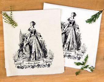 Anne Boleyn Tudors Flour Sack Towel